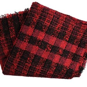 Collection XIIX Women's Square Fringe Plaid Scarf